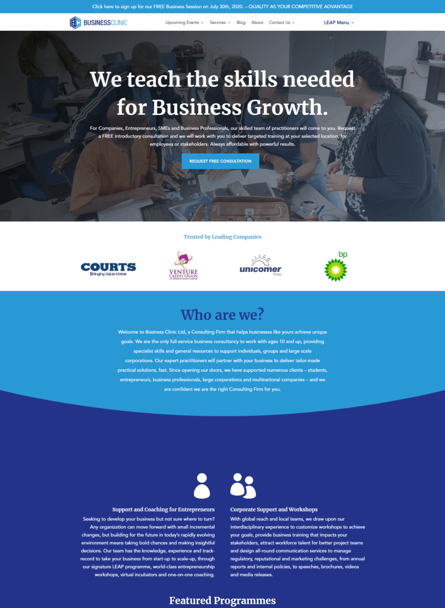 Home Page - Business Clinic Limited